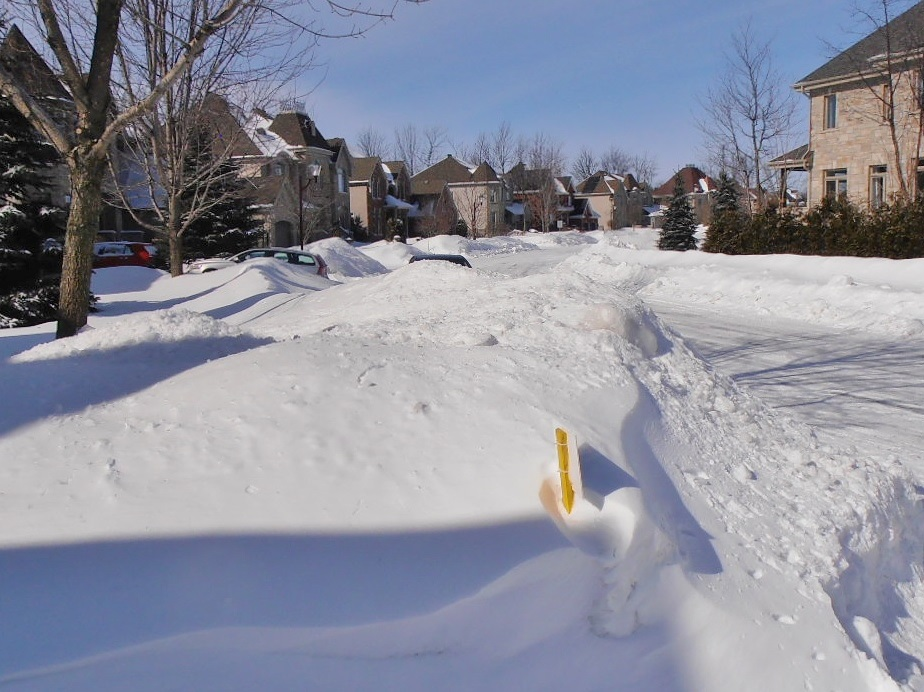 Montreal Suburb Street on March 1, 2016