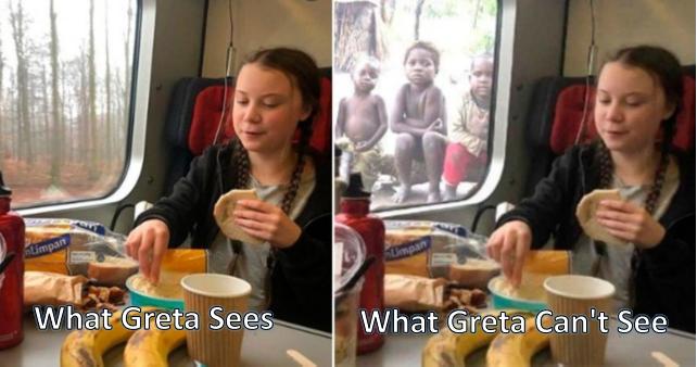 Greta sees