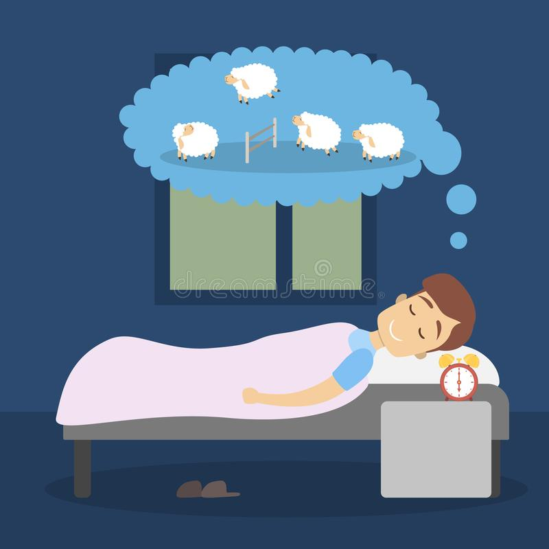 man-sleeping-counting-sheep-dream-man-sleeping-sheep-117145178